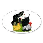 Japanese Bantam Group Sticker (Oval 10 pk)