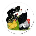 Japanese Bantam Group Round Car Magnet