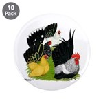 "Japanese Bantam Group 3.5"" Button (10 pack)"