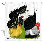 Japanese Bantam Group Shower Curtain