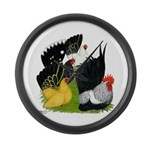 Japanese Bantam Group Large Wall Clock