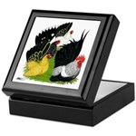 Japanese Bantam Group Keepsake Box