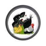 Japanese Bantam Group Wall Clock
