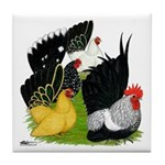 Japanese Bantam Group Tile Coaster