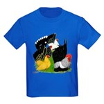 Japanese Bantam Group Kids Dark T-Shirt