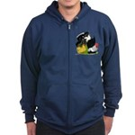 Japanese Bantam Group Zip Hoodie (dark)