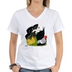 Japanese Bantam Group Women's V-Neck T-Shirt