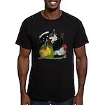 Japanese Bantam Group Men's Fitted T-Shirt (dark)