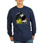 Japanese Bantam Group Long Sleeve Dark T-Shirt