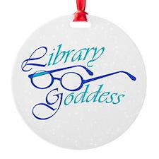 Library Goddess Ornament