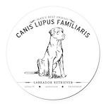 Vintage Labrador Round Car Magnet