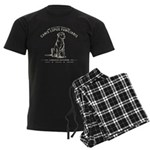 Vintage Labrador Men's Dark Pajamas