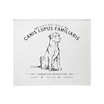 Vintage Labrador Throw Blanket