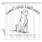 Vintage Labrador Shower Curtain