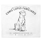 Vintage Labrador King Duvet