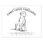 Vintage Labrador Small Poster