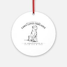 Vintage Labrador Ornament (Round)