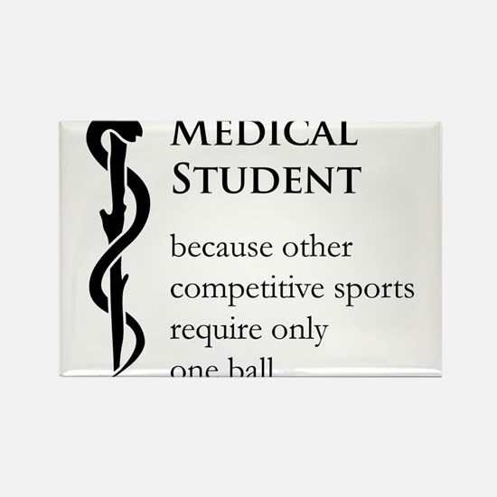 Medical Student Because... Rectangle Magnet