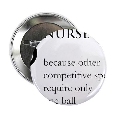 """Nurse Because... 2.25"""" Button"""