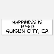 Suisun City - Happiness Bumper Bumper Bumper Sticker