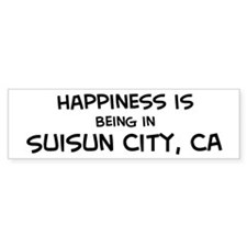 Suisun City - Happiness Bumper Bumper Sticker
