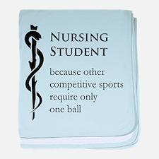 Nursing Student Because... baby blanket