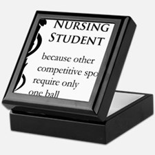 Nursing Student Because... Keepsake Box