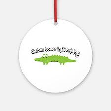 Gator Lover in Trainin Ornament (Round)