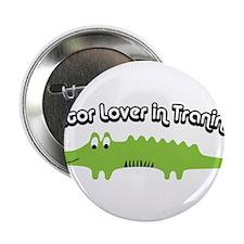 """Gator Lover in Trainin 2.25"""" Button"""