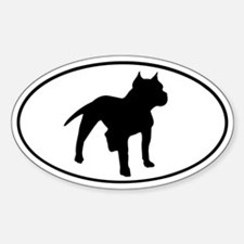 Pit Bull Oval Decal