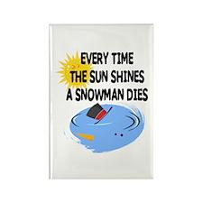 Funny Snowman Xmas design Rectangle Magnet