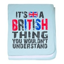 British Thing baby blanket