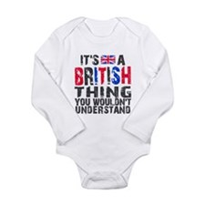 British Thing Long Sleeve Infant Bodysuit