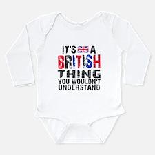 British Thing Long Sleeve Infant Bodysuit