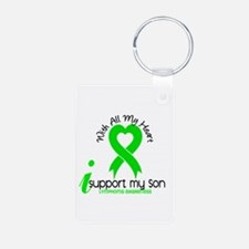 With All My Heart Lymphoma Keychains
