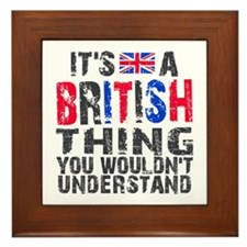 British Thing Framed Tile