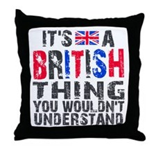 British Thing Throw Pillow