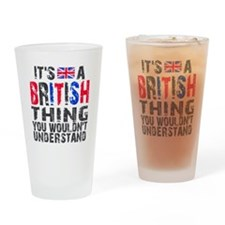 British Thing Drinking Glass