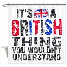 British Thing Shower Curtain