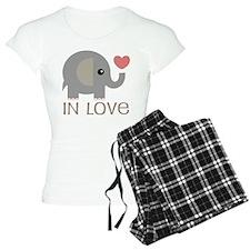 Couples In Love Elephant Pajamas
