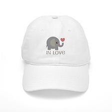 Couples In Love Elephant Baseball Cap