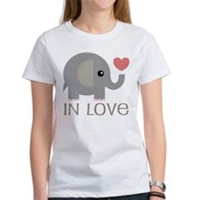 Couples In Love Elephant Tee