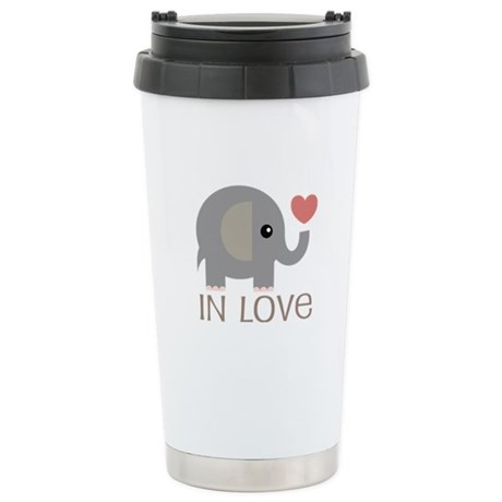 Couples In Love Elephant Stainless Steel Travel Mu