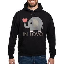Dating In Love Elephant Hoodie