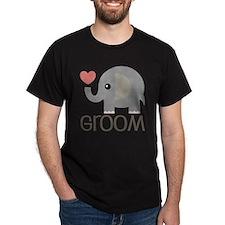 Groom Wedding Elephant T-Shirt