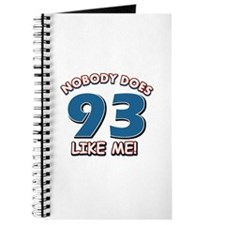 Nobody does 93 like me Journal