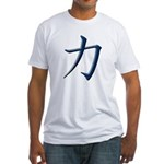 Strength: Japanese Kanji Symb Fitted T-Shirt