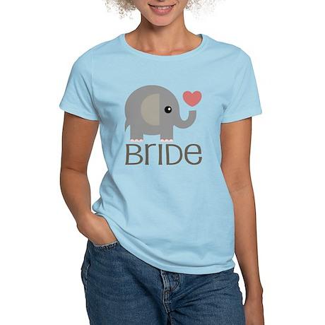 Bride Wedding Elephant Women's Light T-Shirt