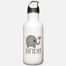 Bride Wedding Elephant Water Bottle