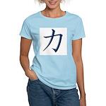 Strength: Japanese Kanji Symb Women's Pink T-Shirt
